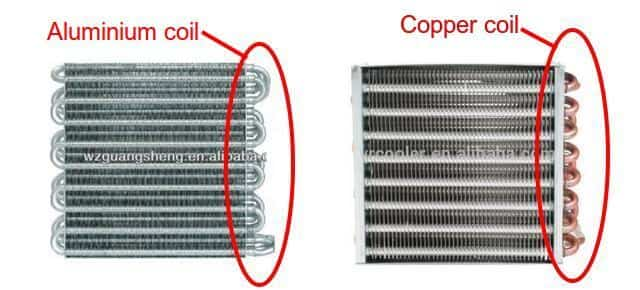 aluminium coil vs copper coil for ac