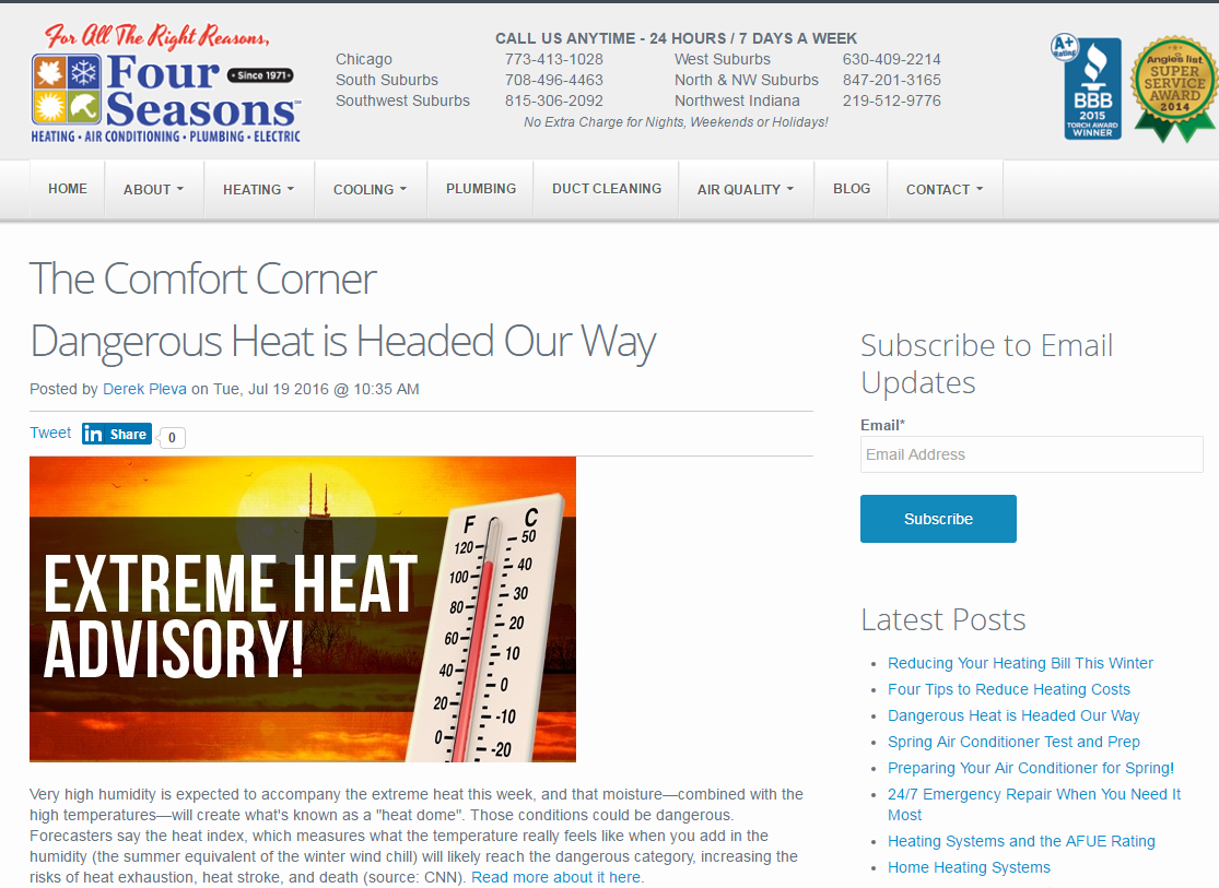 Four seasons heating and air conditioning chicago - Latest News Four Seasons Heating And Air Conditioning Chicago Il