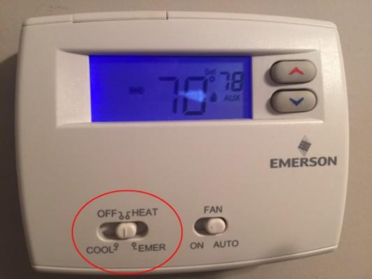 thermostat aux vs em heat