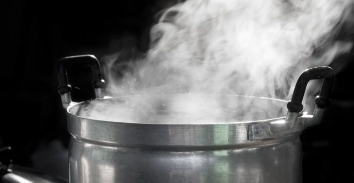 Humidify a room through cooking