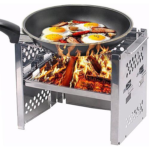 Unigear Wood Burning Camp Stove BBQ
