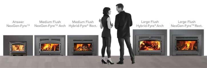 PREMIUM STEEL WOOD FIREPLACE INSERTS