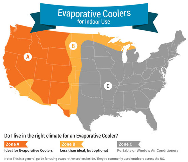 Evaporative Cooler Effectiveness Map