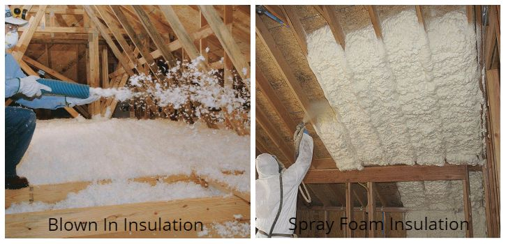 Blown In Insulation vs Spray Foam Insulation