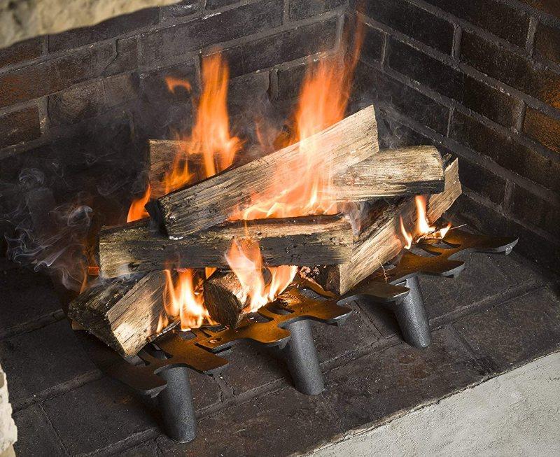 Self-Feeding Fireplace Grates