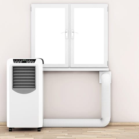 portable ac install on wall