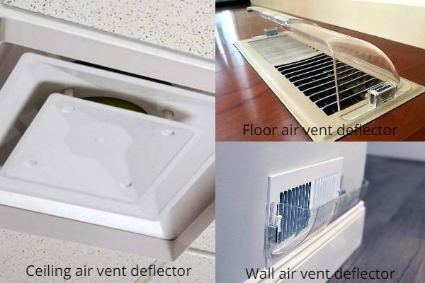 Types of air vent deflectors