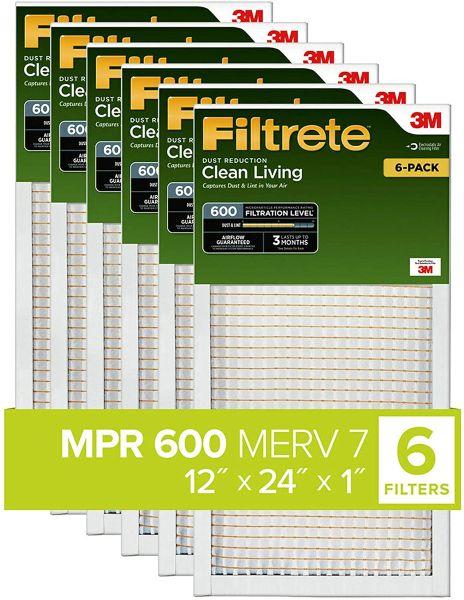 Filtrete 12x24x1, AC Furnace Air Filter MPR 600